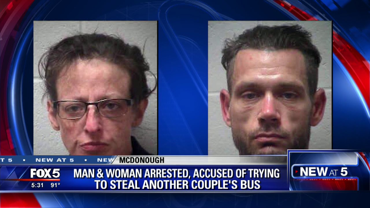 White Couple Arrested for hijacking bus