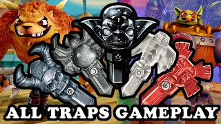 Skylanders Superchargers - All Traps + Ultimate Kaos Trap GAMEPLAY