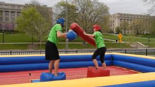 Battle on Inflatable Gladiator Jousting at the University of Iowa