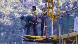 Bungy Jumping at Jumpin Heights, Rishikesh