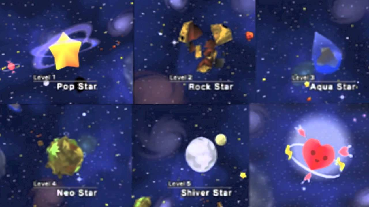 Kirby 64 The Crystal Shards World Select TURN ON ANNOTATIONS
