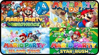 Mario Party - All Mini-Games (Mario Party Advance, DS, Island Tour and Star Rush)
