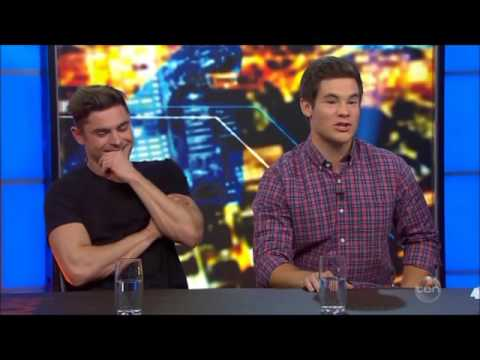 """Mike & Dave"" Zac Efron & Adam ""Harley"" DeVine Australian Tv Interview July 7, 2016"