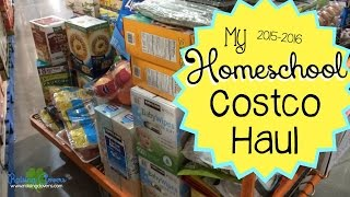 MY HOMESCHOOL COSTCO HAUL!