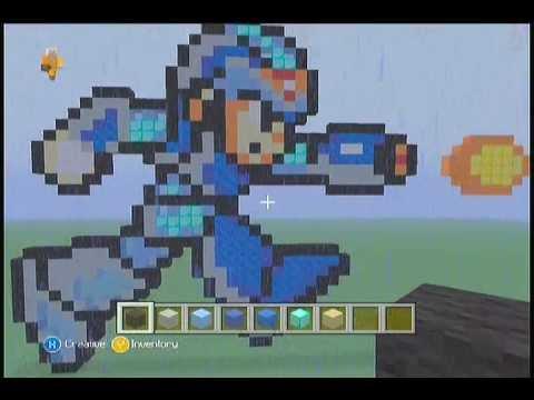 Minecraft Pixel Art Tutorial Megaman X Intermediate Youtube