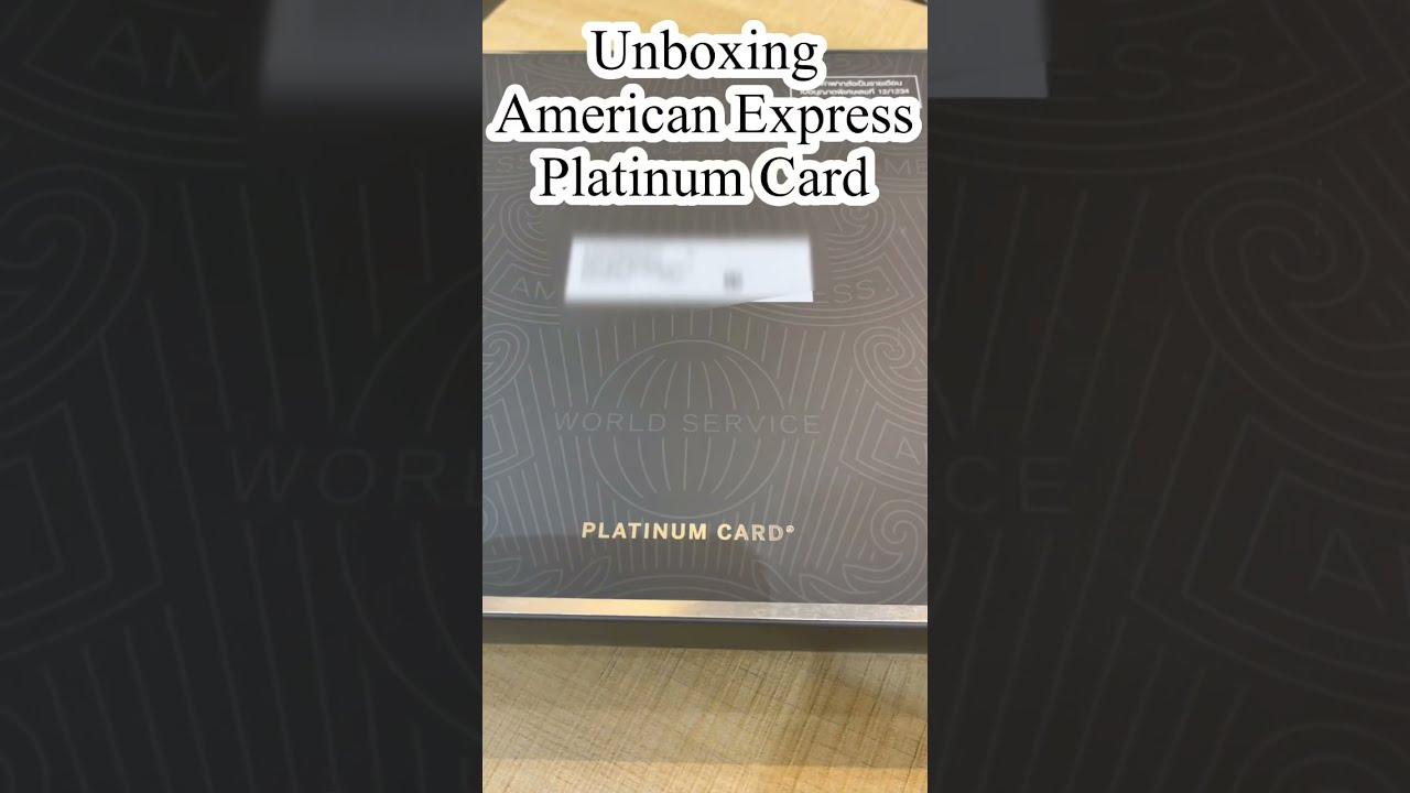 Unboxing! Amex Platinum Metal Card #Shorts