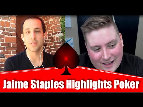 Online Tournament Poker Strategy feat. Jaime Staples (Team PokerStars 2016)- █-█otD 64