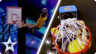 Face Team SLAM DUNK the competition | Britain's Got Talent Unforgettable Audition