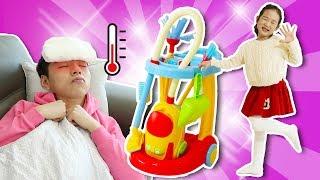 마슈가 아파요! 청소놀이 장난감 세트 놀이 Cleaning Trolley Toy Set - 마슈토이 Mashu ToysReview