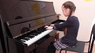 Собачий вальс - Петухова Алина, общее фортепиано, 3 месяца обучения
