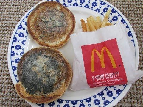 Год чизбургер и картошка фри из Макдоналдса пролежали на моей кухне