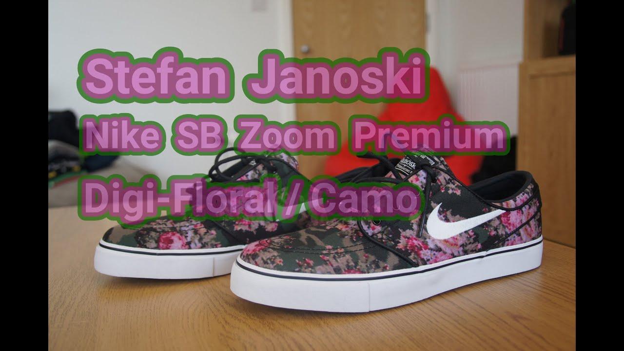 size 40 1aedf 2e2d6 Stefan Janoski x Nike SB Zoom Premium Digi-Floral Camo   Unboxing   Review