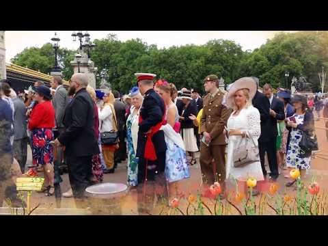 The traditional GARDEN PARTY at the BUCKINGHAM Palace ;)