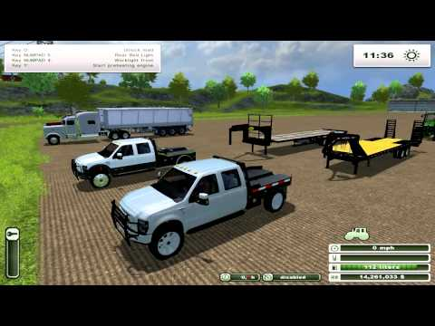 FS2013 | BIG Tractors, Seeders, Trucks, Pickups, Harvester. Mod Spotlight Special: Don't forget to check out my Let's Plays!  2007 Peterbilt 379 Sleeper Cab ($94,000) - http://www.americaneaglesmodding.com/index.php?action=downloads;sa=view;down=717  2010 Ford F-350 SRW Flatbed ($52, 750) - http://www.americaneaglesmodding.com/index.php?action=downloads;sa=view;down=764  2010 Ford F-350 DRW Flatbed w/ Gas Tank ($65,750) - http://www.americaneaglesmodding.com/index.php?action=downloads;sa=view;down=765  Big Tex Bale Trailer ($5,800) - http://www.americaneaglesmodding.com/index.php?action=downloads;sa=view;down=607  Case Air-Frill 500T 12M ($130,000) - http://www.americaneaglesmodding.com/index.php?action=downloads;sa=view;down=703  John Deere 1990 CCS 12M ($130,000) - http://www.americaneaglesmodding.com/index.php?action=downloads;sa=view;down=763  John Deere 6930 Pack ($215,000 - $230,000) - http://fs-uk.com/mods/view/32983  John Deere S650 ($398,000) - http://www.americaneaglesmodding.com/index.php?action=downloads;sa=view;down=808  Kenworth T800 Pack ($80,000 - $90,000) - http://www.americaneaglesmodding.com/index.php?action=downloads;sa=view;down=731  PJ Trailer ($7,800) - http://www.americaneaglesmodding.com/index.php?action=downloads;sa=view;down=459