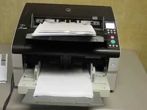 Fujitsu fi-6800 High Speed Production Scanner demo - YouTube