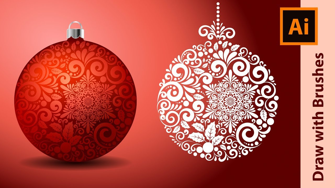 How I Draw Fancy Christmas Balls In Adobe Illustrator