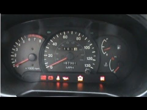 2000 Hyundai Accent Dash & Cold Start - YouTube