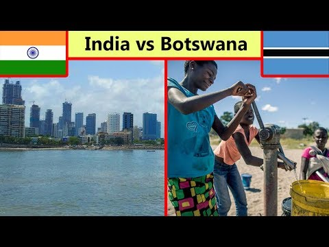 Which Country is More Developed? India or Botswana? (2019)