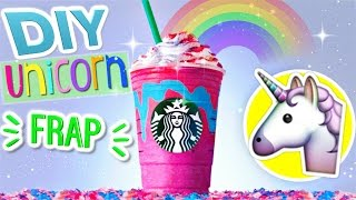 Unicorn frappuccino sold out at every Starbucks?? Well just DIY a u...