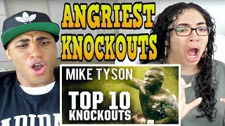 10 ANGRIEST Mike Tyson Knockouts REACTION
