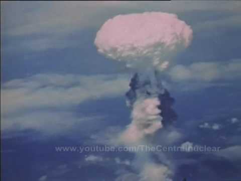 Original color film Nagasaki atomic bomb in 1945