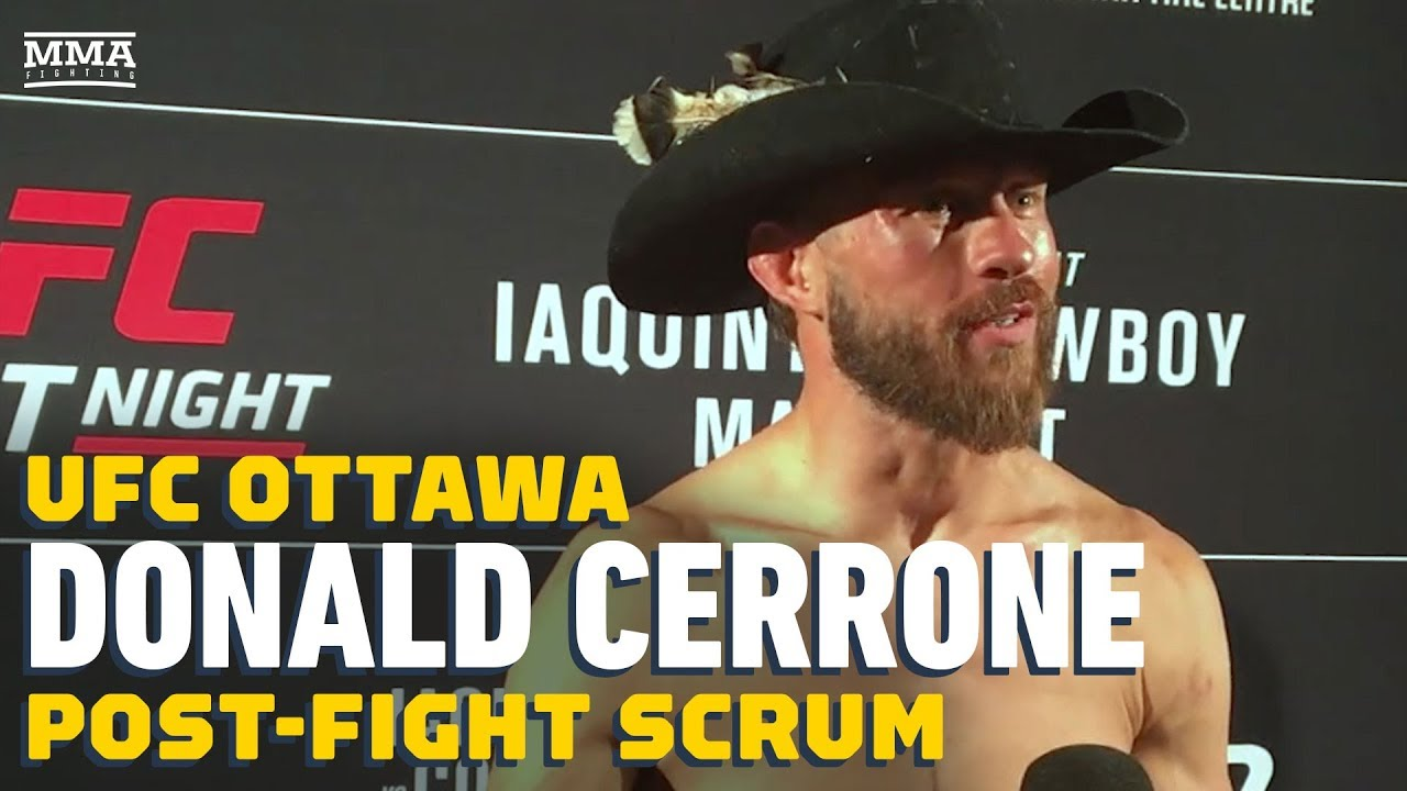 Donald Cerrone: 'Younger me would have quit' against Al Iaquinta at UFC Ottawa