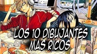 Los 10 dibujantes de mangas más ricos en Japón