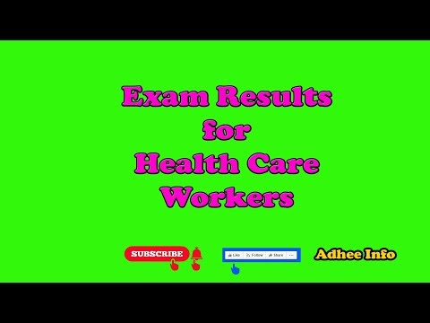 Exam Results for Health Care Workers | Sri Lanka | Government Sector |