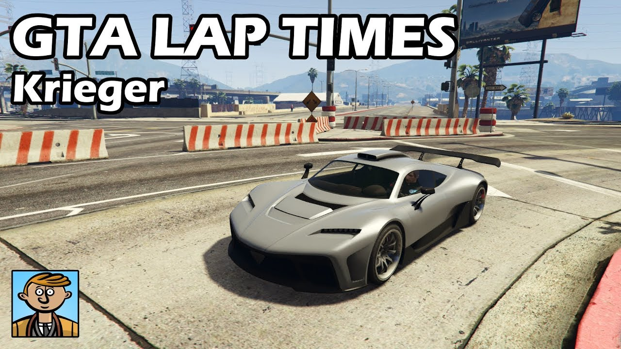 Fastest Supercars (Krieger) - GTA 5 Best Fully Upgraded Cars Lap Time  Countdown