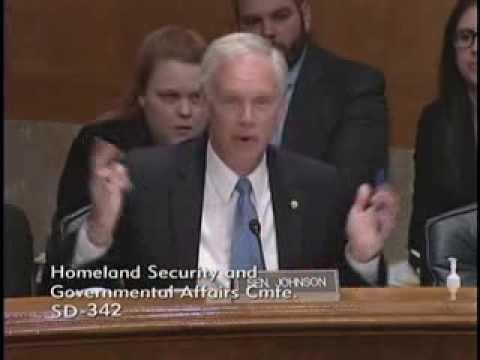 Senator Johnson at HSGAC