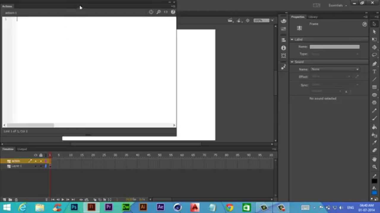 Adobe Flash Professional CC Action Script 3.0 tutorial ...
