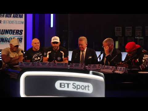 HILARIOUS! - BILLY JOE SAUNDERS v WILLIE MONROE JR - *FULL & UNCUT* BIZARRE FINAL PRESS CONFERENCE