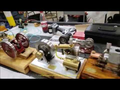 Cabin Fever Expo 2019 Model Engineering Show Gas, Steam, & Stirling Engines Part 1