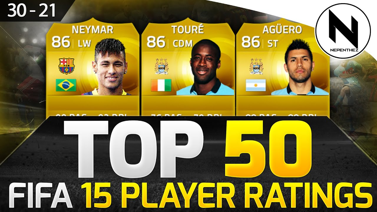 PLAYER 50 Top -  w/ RATINGS! OFFICIAL 15 30-21 FIFA Neymar