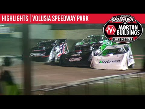 World of Outlaws Morton Buildings Late Models Volusia Speedway Park, February 15, 2020 | HIGHLIGHTS