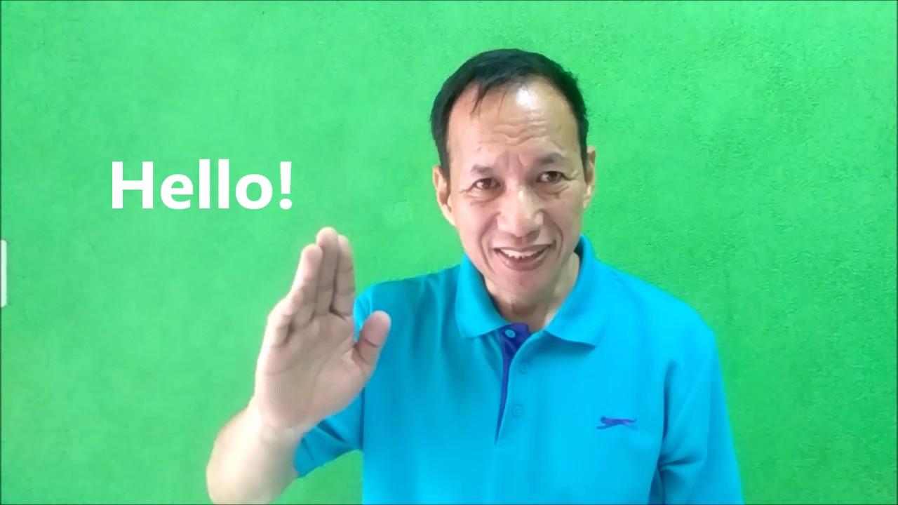 Tutorial On Basic Sign Language Greetings Part 1 Youtube
