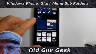 Windows Phone 8.1 Tip - Save Screen Space with Live Folders