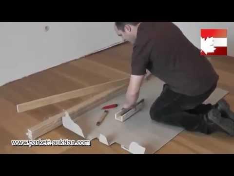 Berühmt Sockelleisten Gehrung schneiden und danach montieren auf drei HL27