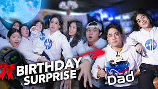 DADS Birthday On SPACE Surprise!! (Robot Gift?!) | Ranz and Niana