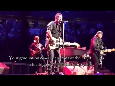 Bruce Springsteen - Thunder Road lyrics & Sub ITA Best Audio 2016