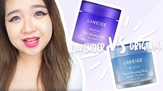 Gambar cover LANEIGE Lavender Water Sleeping Pack VS Original Water Sleeping Pack
