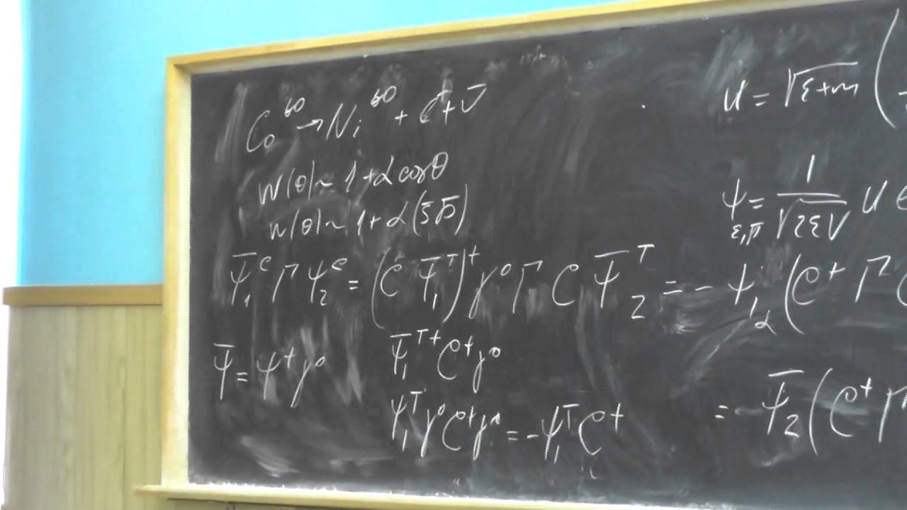 Физика элементарных частиц, Ю.И. Сковпень. Семинар 5