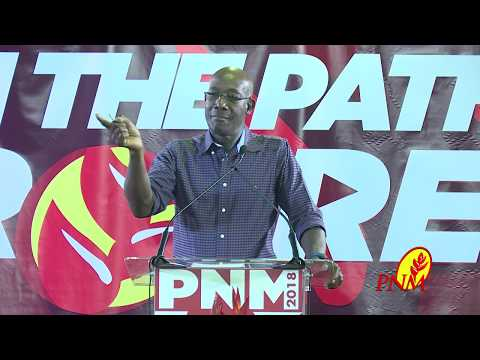 Dr. the Hon. Keith Rowley, Pubic Meeting, Diego Martin
