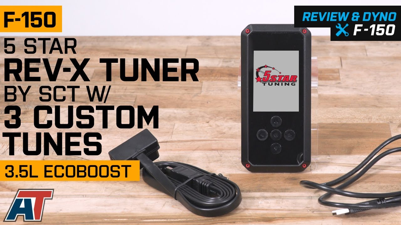 2011-2014 F150 5 Star Rev-X Tuner by SCT w/ 3 Custom Tunes 3 5L EcoBoost  Review & Dyno