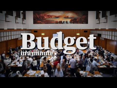 The budget in a minute with political editor Katharine Murphy– video
