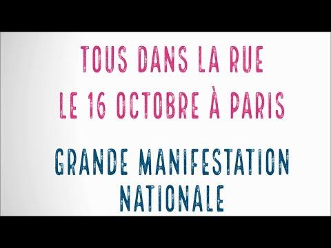 Teaser officiel - Manif Pour Tous 16 octobre  (RDV à 13H Porte Dauphine)