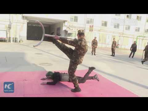 How are armed police forces guarding foreign embassies in Beijing trained?