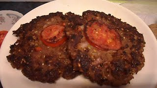 Pashawari Chapli Kabab - Pashawari Chapli كباب ( لحم البقر ) - 牛肉炒 - 牛肉炒め