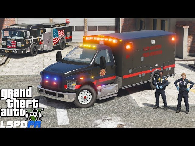 GTA 5 Paramedic Mod New Ford F-750 Ambulance Responding To EMS Calls