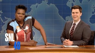 Weekend Update: Leslie Jones on Crazy Bitches - SNL